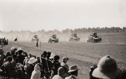 Two man Tanks, Proclamation Day Lahore, 1937