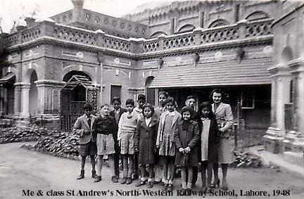 St Andrews Railway School, Lahore, 1948
