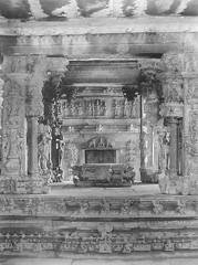 Interior of Kalyana Mandapam, Sompalle, India