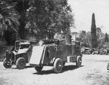 Hampshires in India 1914-1918 with armoured cars