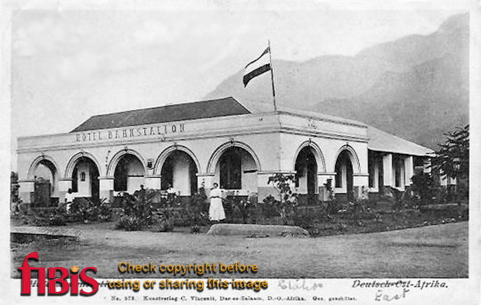 Postcard of Morogoro Station in East Africa in 1916
