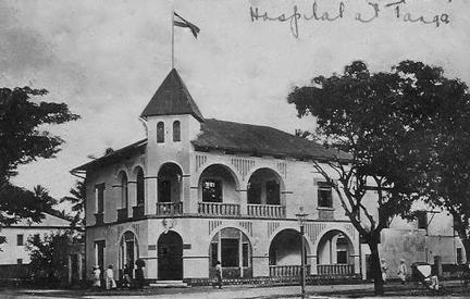 Postcard of Tanga Hospital in East Africa in 1916