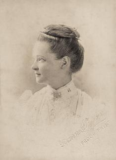 Emma Heron (nee Lawrence) in Simla in 1890