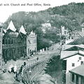 Post card Upper Mall, Church and Post Office, Simla