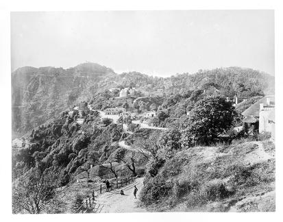 1890 approx Road and village in the mountains