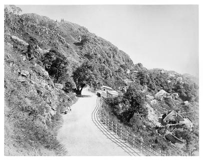 1890 approx Road in the mountains