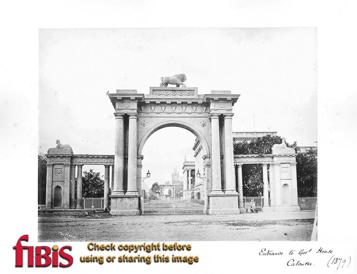 1879 Calcutta Entrance to Govt House