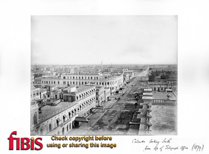1879 Calcutta looking south from Telegraph Office