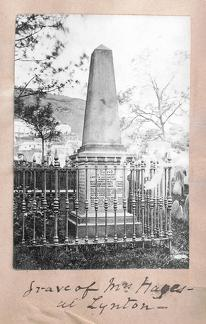 Grave of Mrs Hayes at Lynton