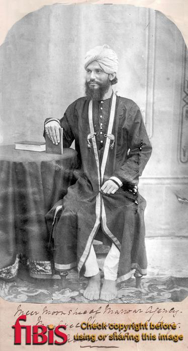 Portrait of Meer Moonshee of Marwar Agency, Aboo 1868