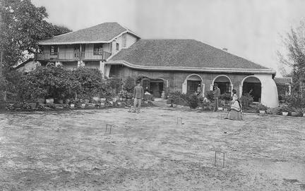 House with croquet lawn