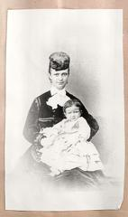 Portrait of Mrs Abbott and infant