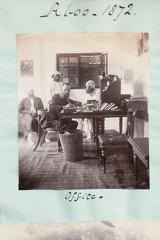 In the office at Aboo 1872