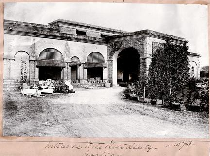 Entrance to the Residency Gwalior 1873