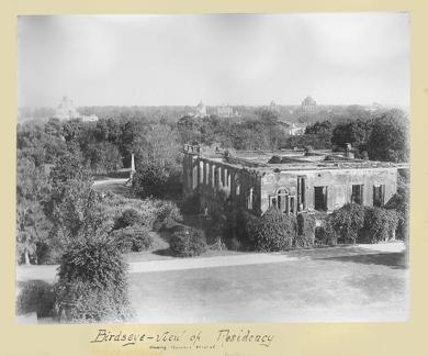 Birds eye view of Residency - showing Havelock Memorial