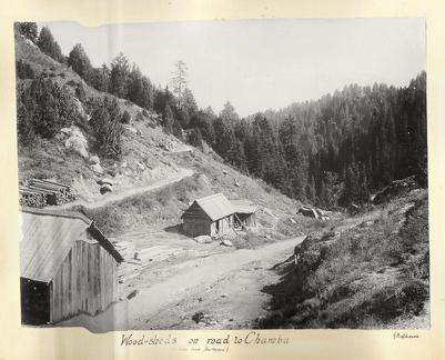 Wood-sheds on the road to Chamba