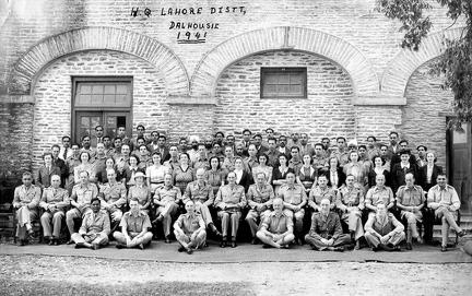 Officers and Staff BOR Lahore District HQ 1941