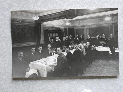 32nd Siege Battery Dinner 1937. Probably London