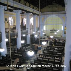 Interior photograph of St Johns Church, Meerut