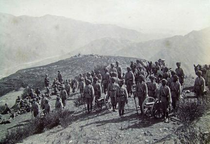No 2 Punjab Mountain Battery Punjab Frontier Force at Diliari Blk Mtn Exp 1891