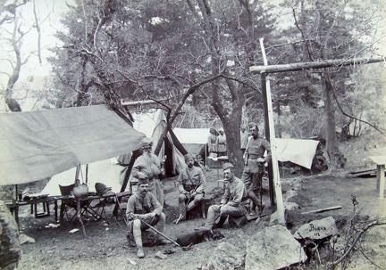 The Political Camp at Seri Black Mountain Expedition 1891