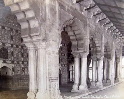 Interior of the Sheesh Mahal, Amber Fort, Jaipur, India
