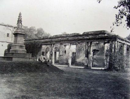 Treasury House residency Lucknow, showing Atkin's Memorial