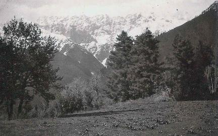 Haramuk, Sind Valley, Kashmir May June 1920