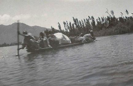 Boat on Dal Lake, Srinagar, Kashmir 1920