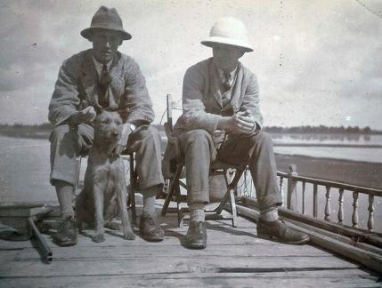 Clark and self, Srinagar, Kashmir 1920