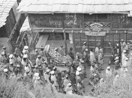 Dussehra Festivities passing the National Weaving Factory in Kulu, Kangra District 1930s